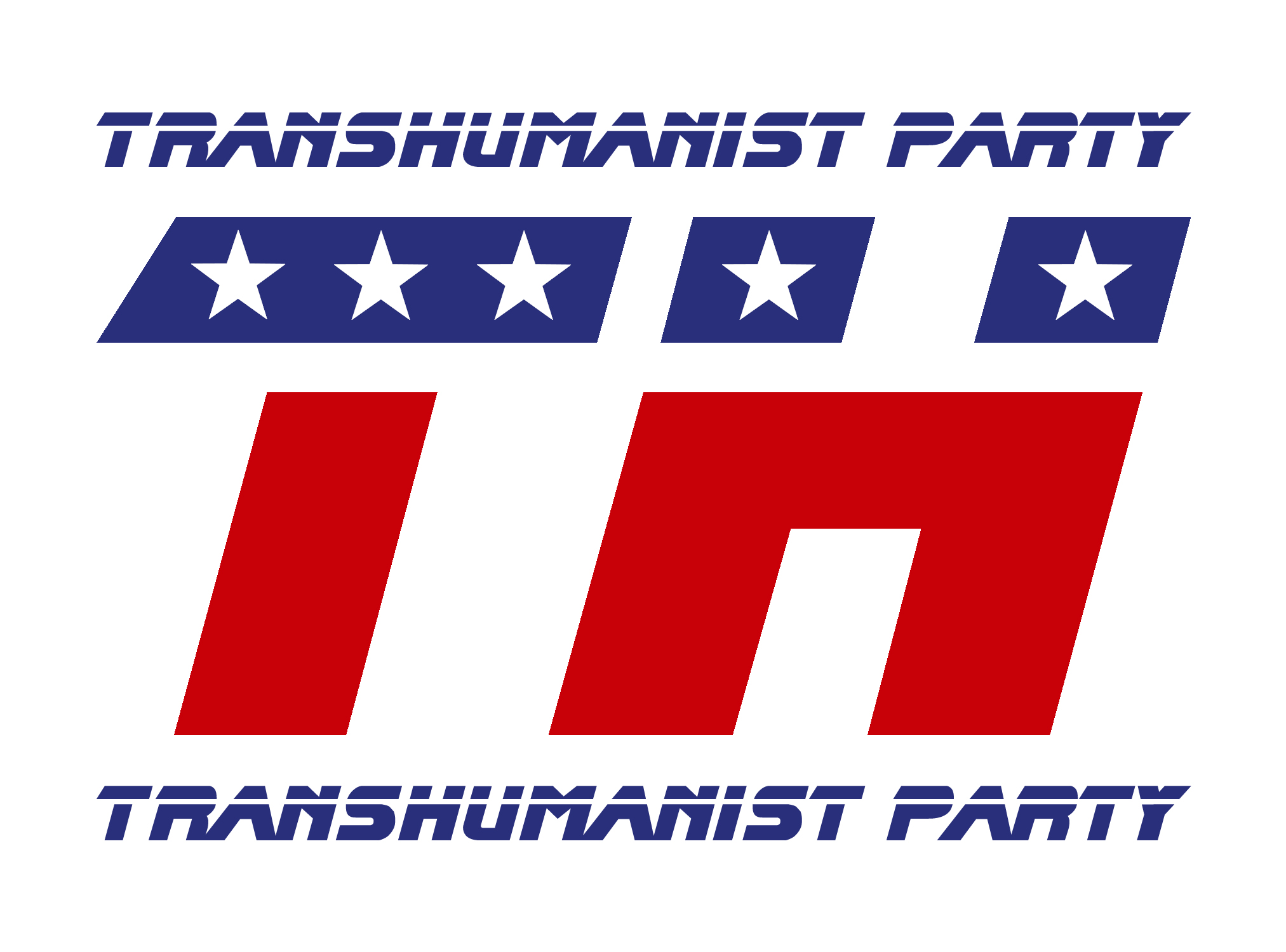 Transhumanist Party Logo - United States Theme - by Kevin D. Blackmon