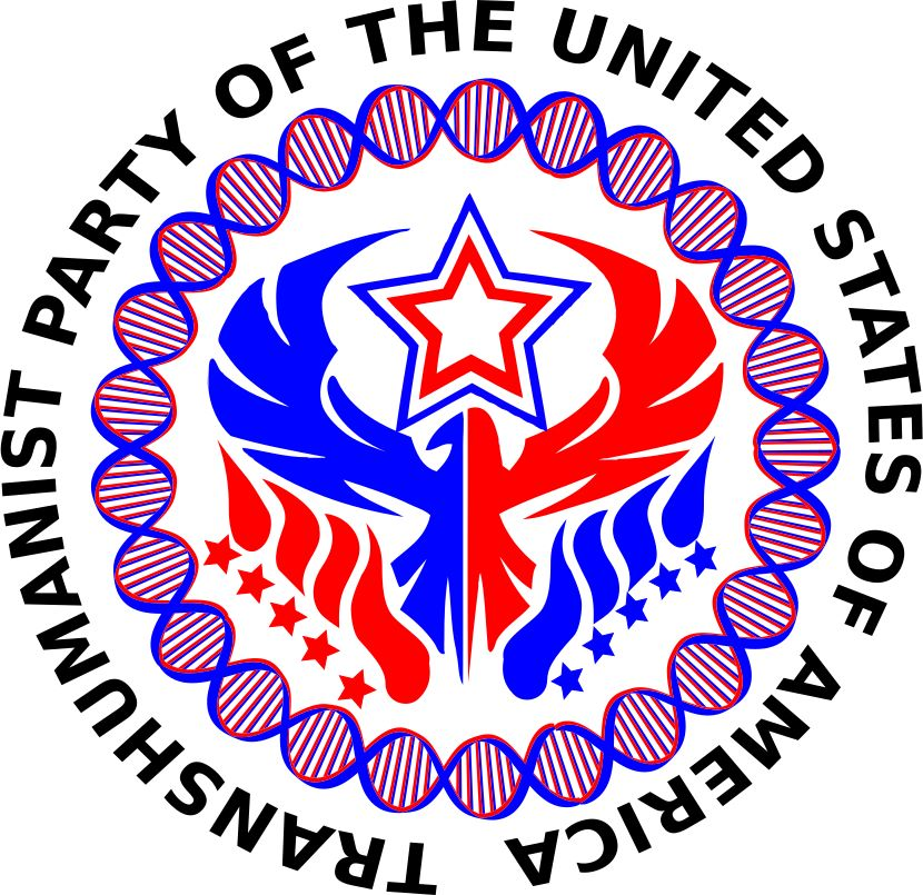 United States Transhumanist Party Logo - Version 1 - by Michael Lorrey