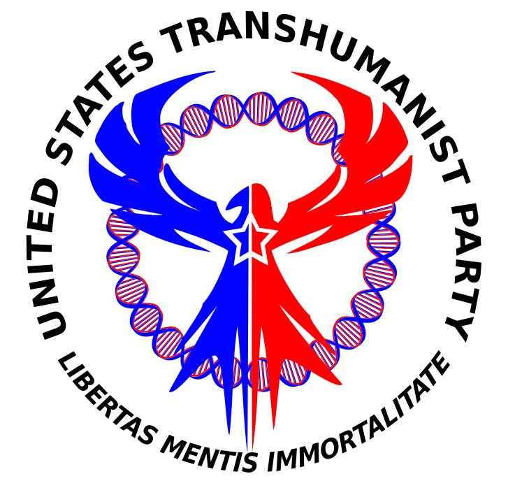 United States Transhumanist Party Logo - Version 2 - by Michael Lorrey